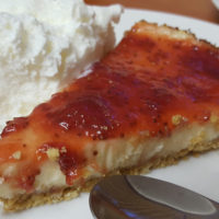 Baked Cheesecake with Strawberry Compoté