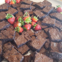 Chocolate Brownies Platter